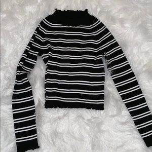 Kendall & Kylie cropped striped sweater